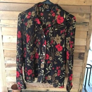 Tops - Vintage Fall Long Sleeve Floral Button Down